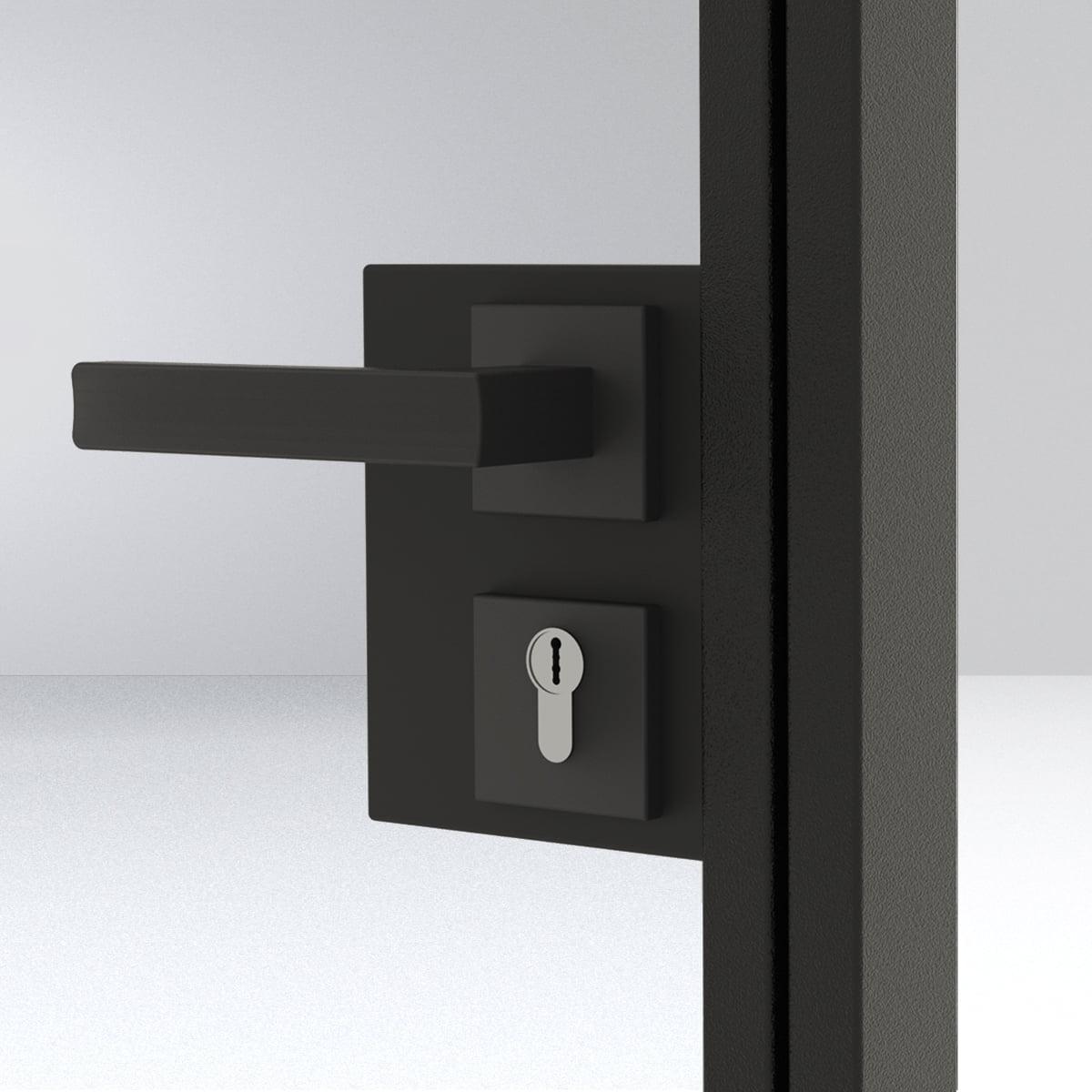 klamka kwadrat z zamkiem 1